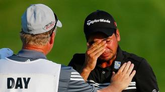 Tears for Jason Day as he wins his first major
